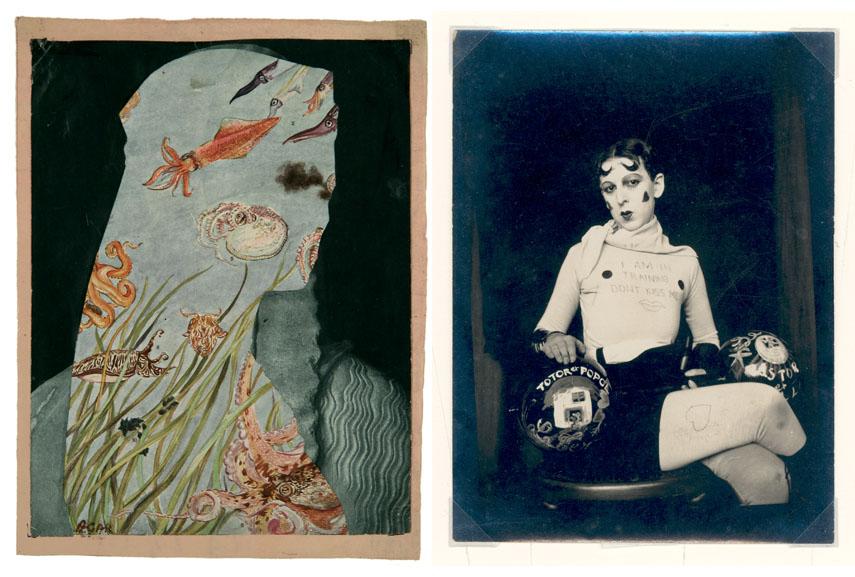 Left Eileen Agar Collage Head Right Claude Cahun Self-portrait