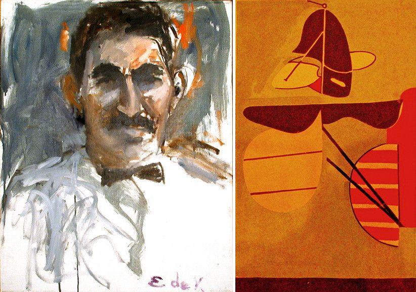 Left Elaine de Kooning - Harold Rozenberg #1 Right Arshile Gorky - Aviation Evolutions of forms under aerodynamic limitation