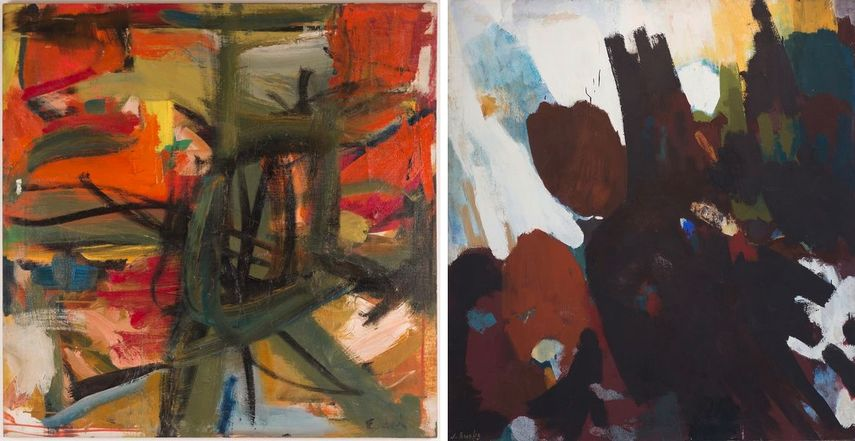 Elaine de Kooning - Squeeze Play, 1957, James Brooks - Berl, 1956