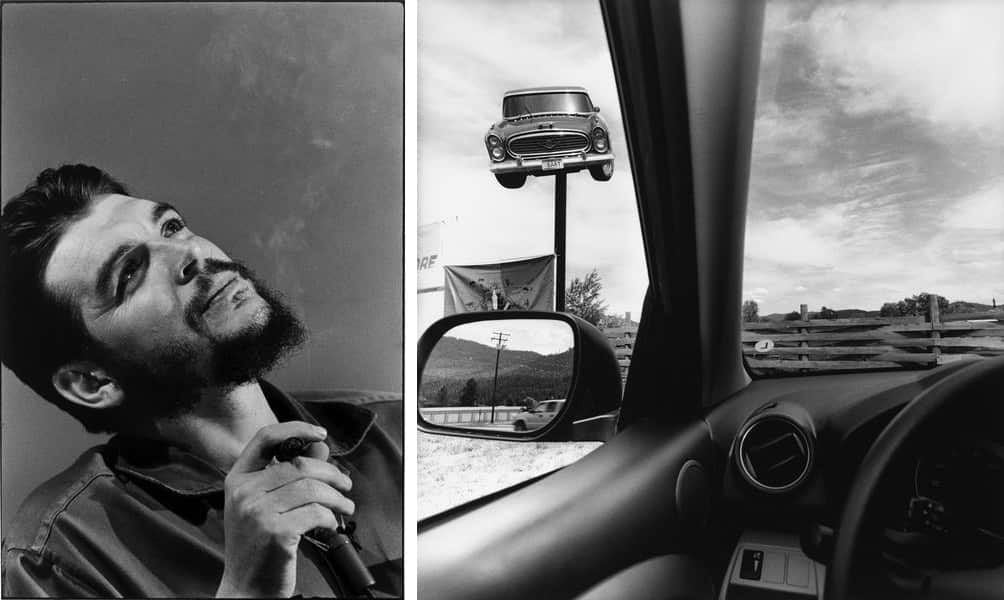 Elliott Erwitt - Che Guevara, Cuba, Havana, 1964, Lee Friedlander - America by Car, Montana, 2008