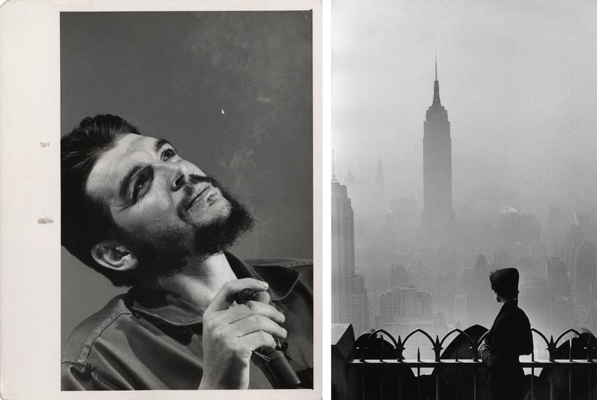 Che Guevara, Havana, 1956, Empire State Building, New York City. 1955