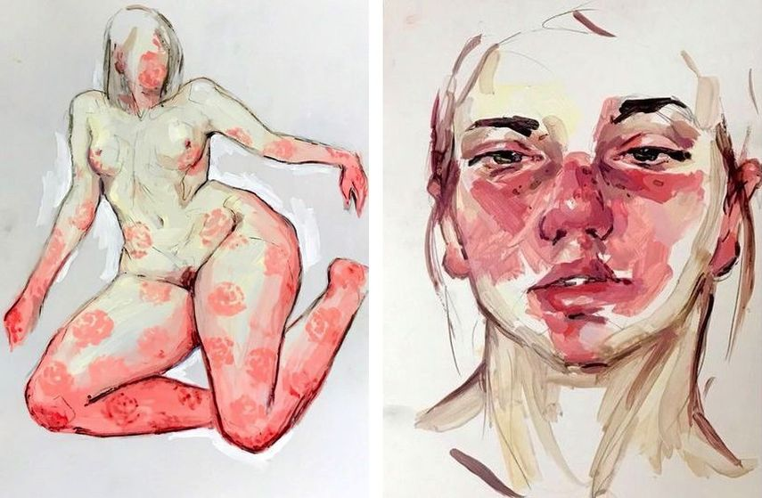 Elly Smallwood - Floral, Self-Portrait