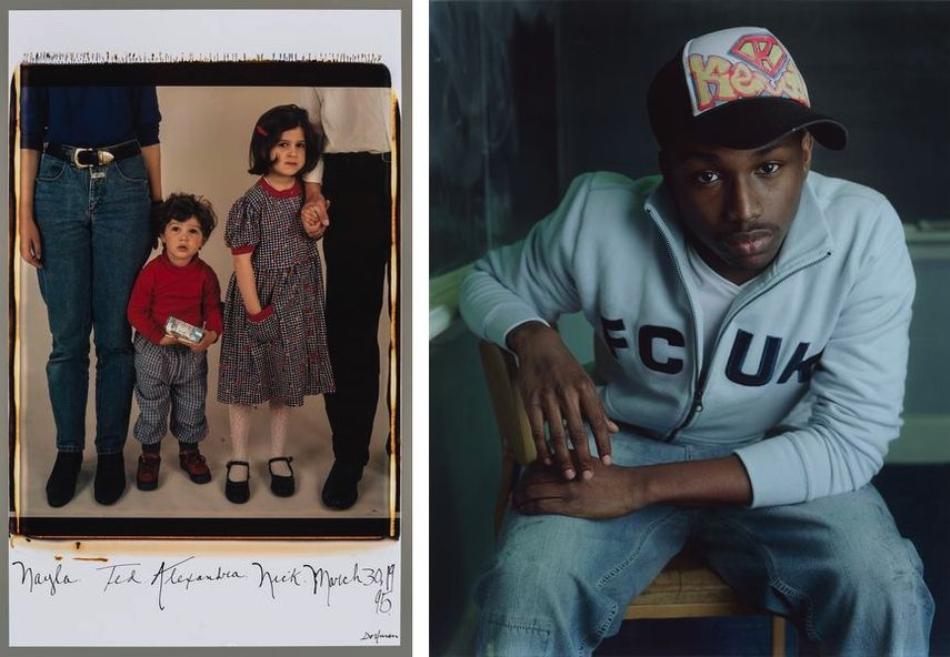Elsa Dorfman - Nayla, Ted, Alexandra, Nick, March 30, 1995, Dawoud Bey - Kevin from the series, Class Pictures, 2005