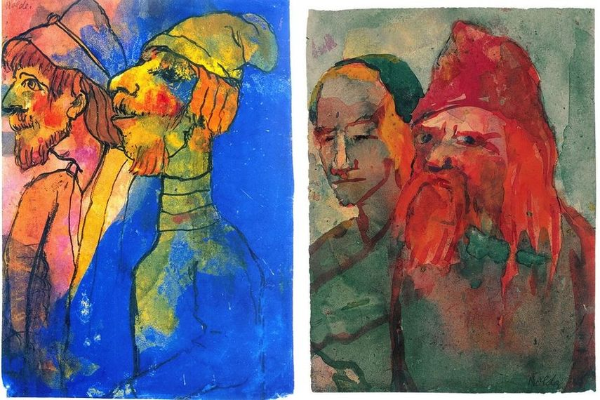 Emil Nolde, Gaut the Red, Emil Nolde, Old Peasant Couple
