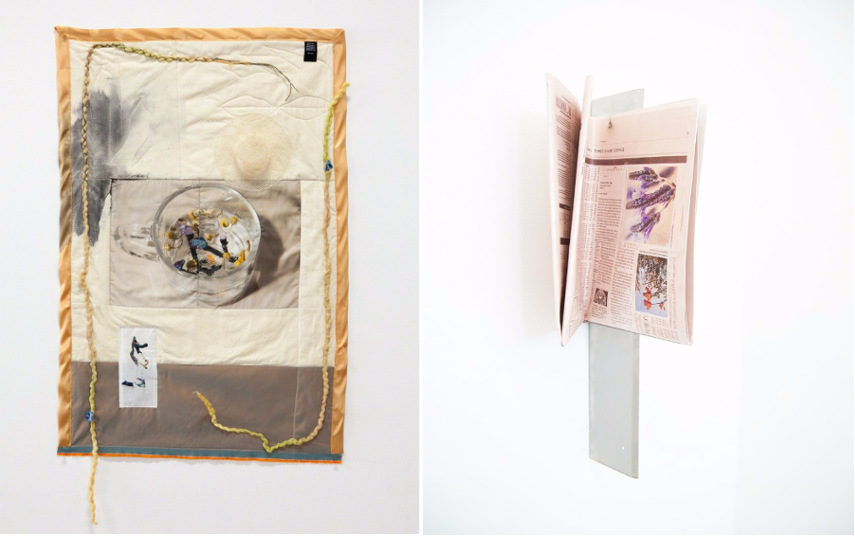 Left Erin Jane Nelson - BBr [Bucolic Buttered rice], 2015 Right. Morgan Canavan - Untitled, 2015