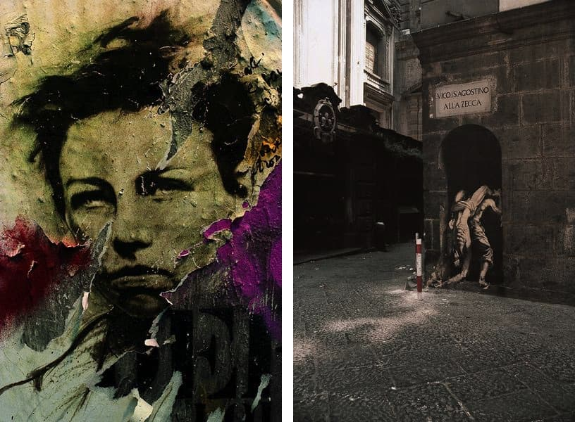 Ernest Pignon-Ernest - Rimbaud, 1978, Ernest Pignon-Ernest - La Zecca étude pour épidemie, Naples, 1990