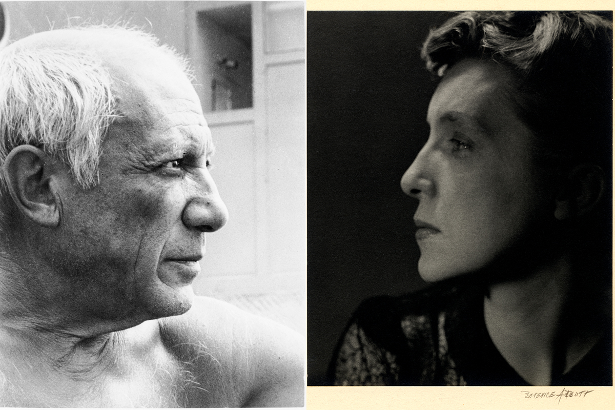 Left Ervin Marton, Picasso at Golfe-Juan Right Berenice Abbott - Louise Bourgeois, 1949