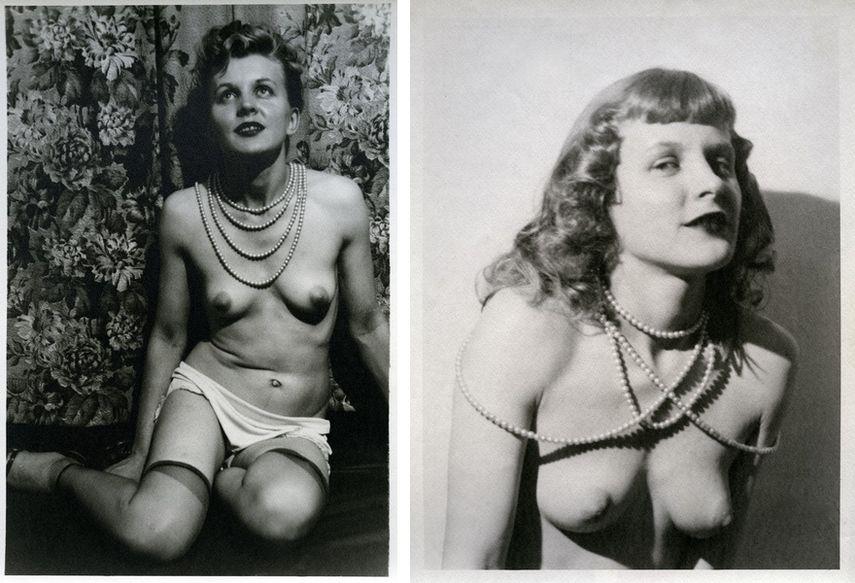 Left Eugene von Bruenchenhein - Untitled, 1940s Right Eugene von Bruenchenhein - Untitled, 1940s museum new york city