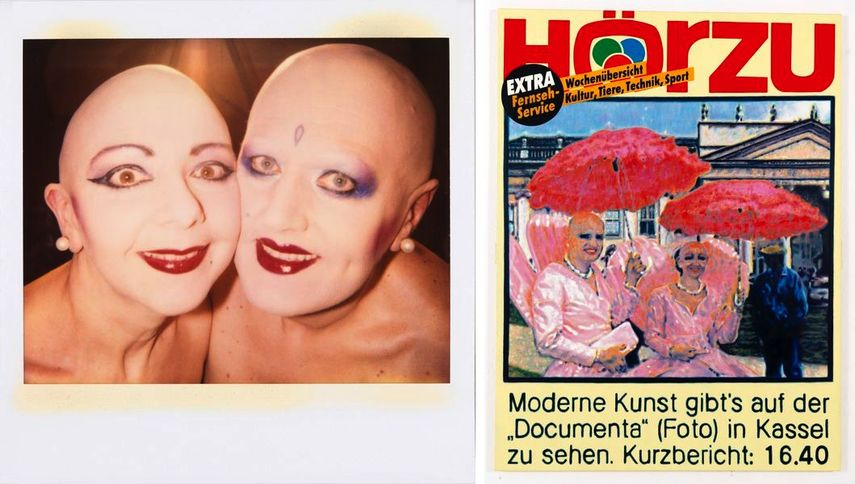 Autopolaroid, 28.08.1992, Mediaplastic No. 9, Hörzu, 1992; german duo appeared in books world museum and culture news