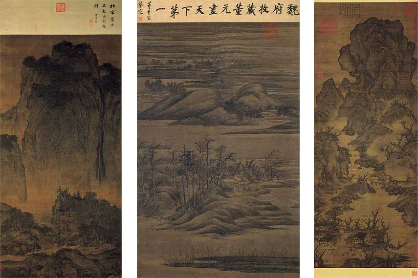 painting  chinese  ink artist  brush  museum painting  paintings  song  mountain  natural