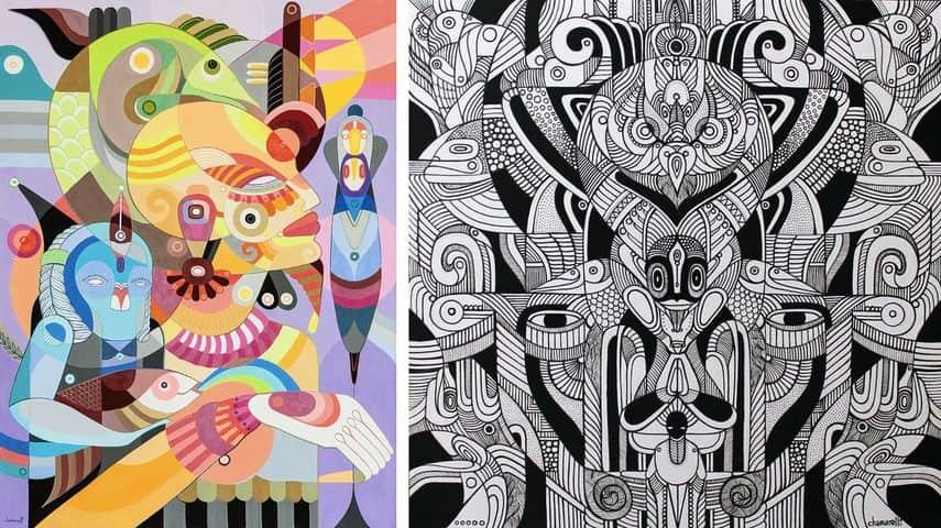 Aura Amarela, Força Criativa Illustration