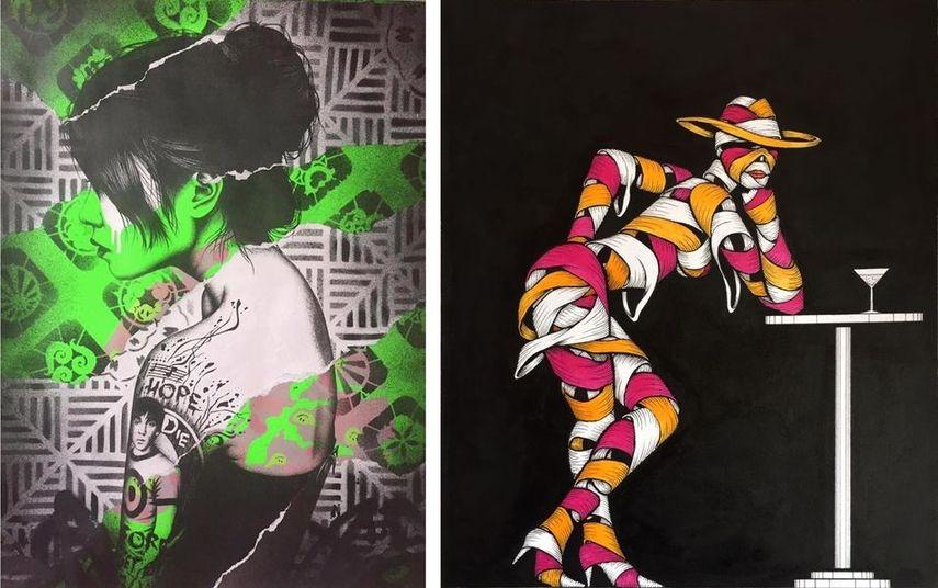 banksy and c215 create stencil graffiti artwork especially in australia and new york city in 2016