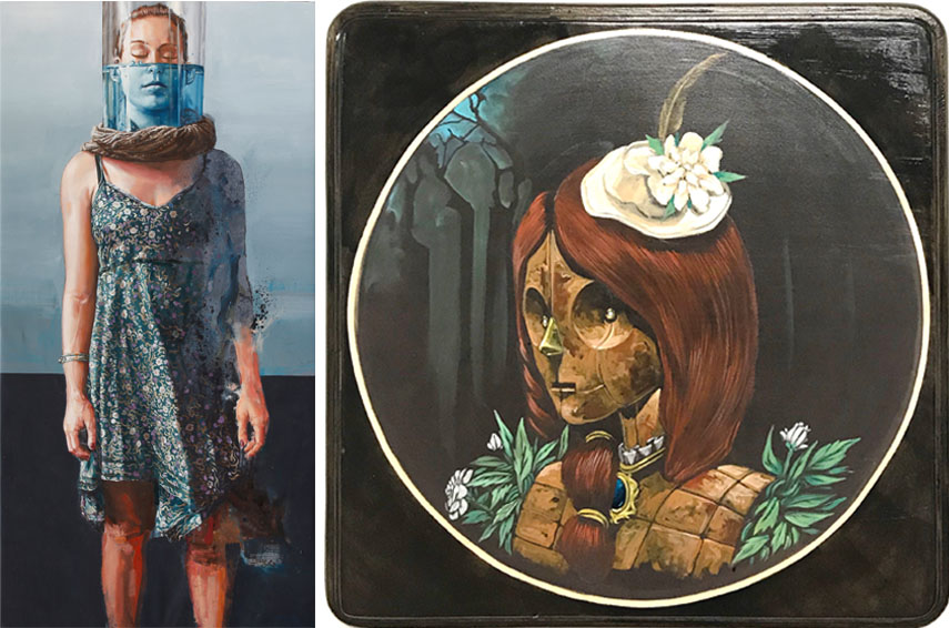 Fintan Magee - Drowning While Standing #2, Pixelpancho - Ritratto nel bosco, la ricchezza D'animo. Urban Art Fair Paris, Le Carreau du Temple