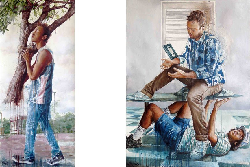 Left Fintan Magee - The Volunteer, 2016 Right Fintan Magee - The video Tape, 2016