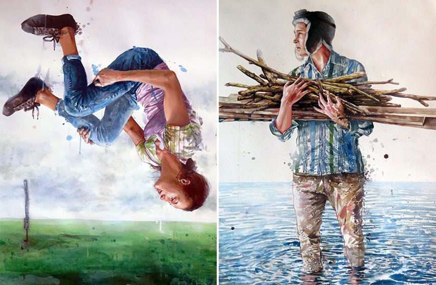 Fintan Magee exhibition Backwoods Gallery