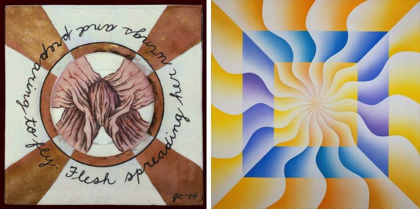 Flesh Spreading Her Wings and Preparing to Fly, 1974, Christina of Sweden (Great Ladies Series), 1973