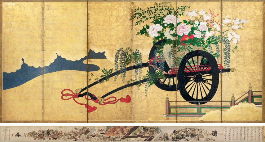Top: Flower Carts / Bottom: Night Attack on the Sanjō Palace