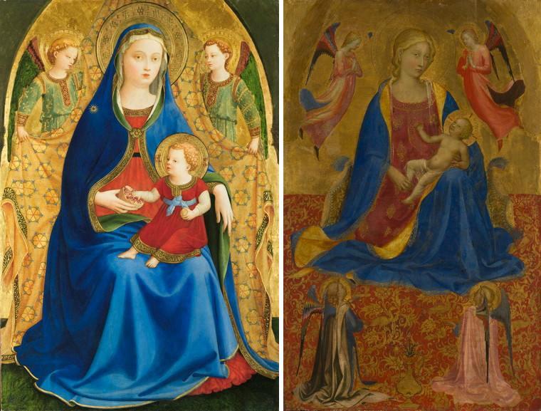 Left Fra Angelico - Virgin of the Pomegranate Right Fra Angelico - Virgin and Child, with Four Angels