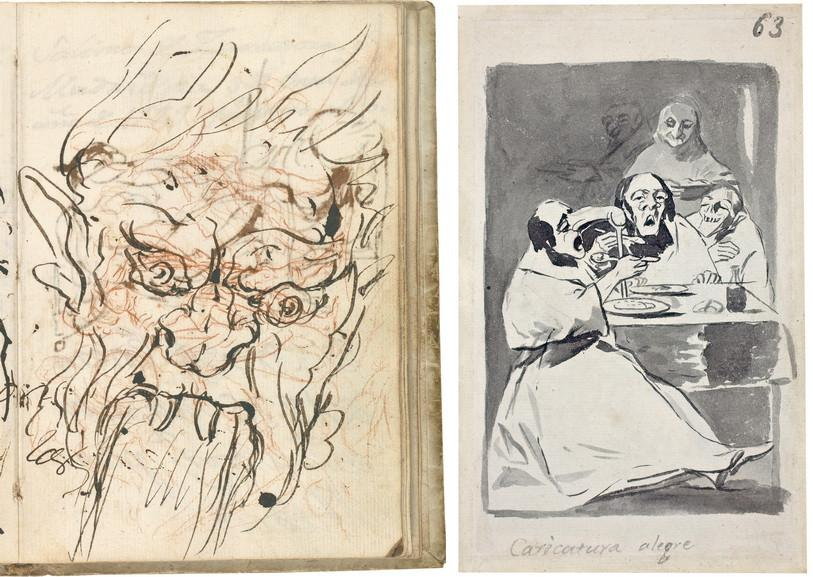 Francisco de Goya - Italian Notebook and Merry Caricature