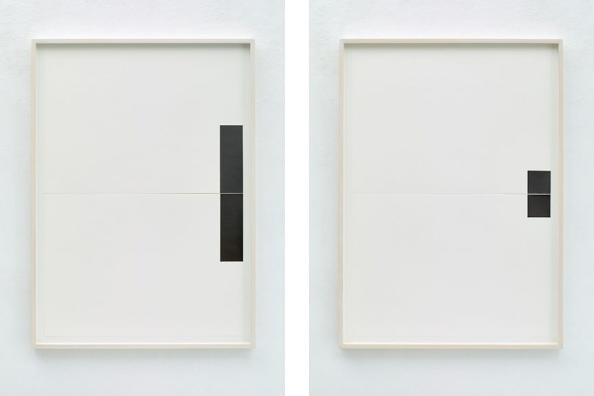 Left Frank Gerritz - Two Center Connection I, 2015, Right Frank Gerritz - Two Center Connection II, 2015