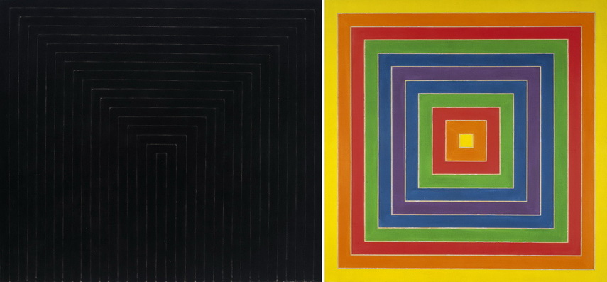 Left Frank Stella - Getty Tomb Right Frank Stella - Whom Sketch