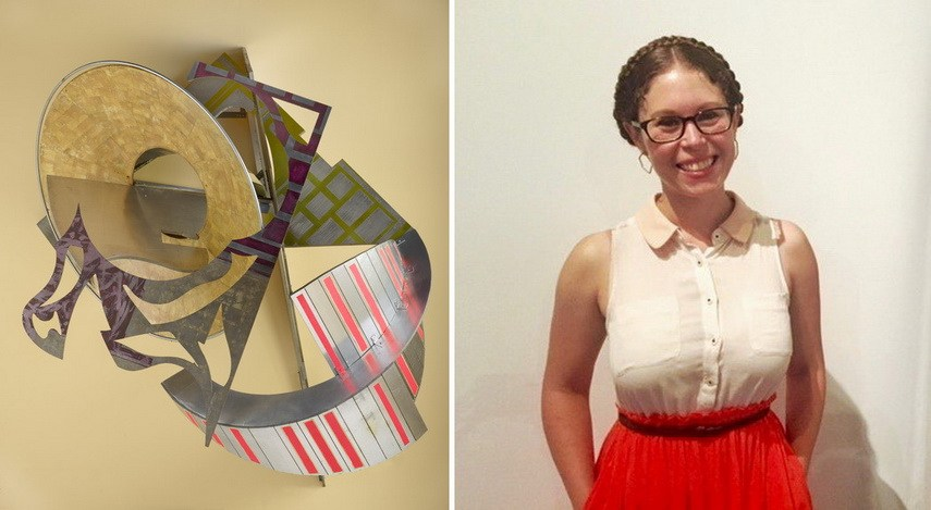 Left Frank Stella - St. Michaels Counterguard Right Portrait of curator Katia Zavitovski