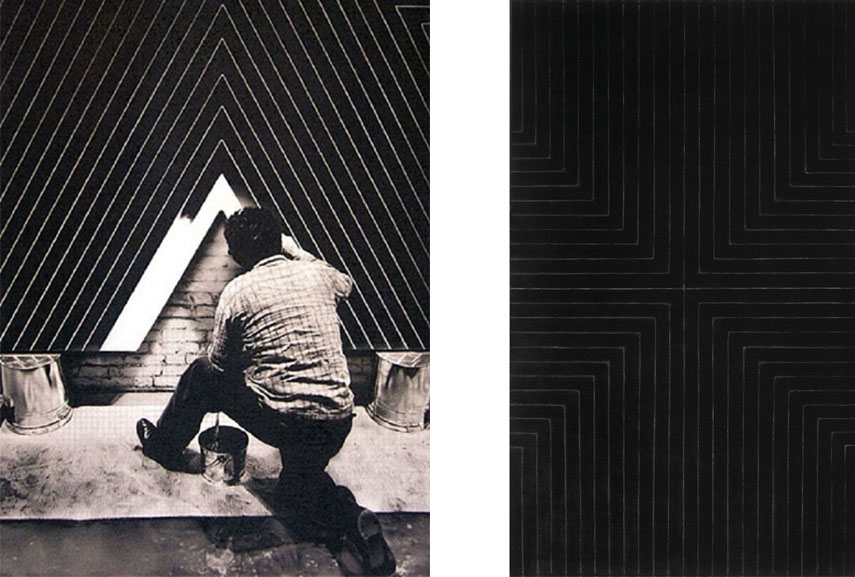 Minimalist artists like Frank Stella created new types of paintings