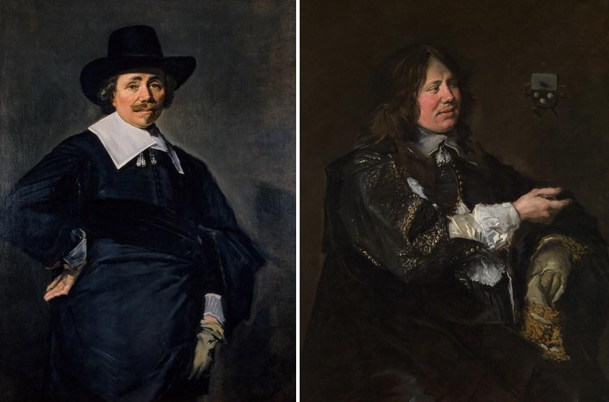 Left Frans Hals – A Ducth gentleman Right Frans Hals – Stephanus Stephanus Geraerdts
