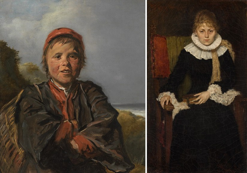 Left Frans Hals – Fisher Boy Right William Merrit Chase – Portrait of a Woman
