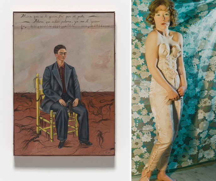 Left Frida Kahlo - Self-Portrait with Cropped Hair Right Cindy Sherman - Untitled