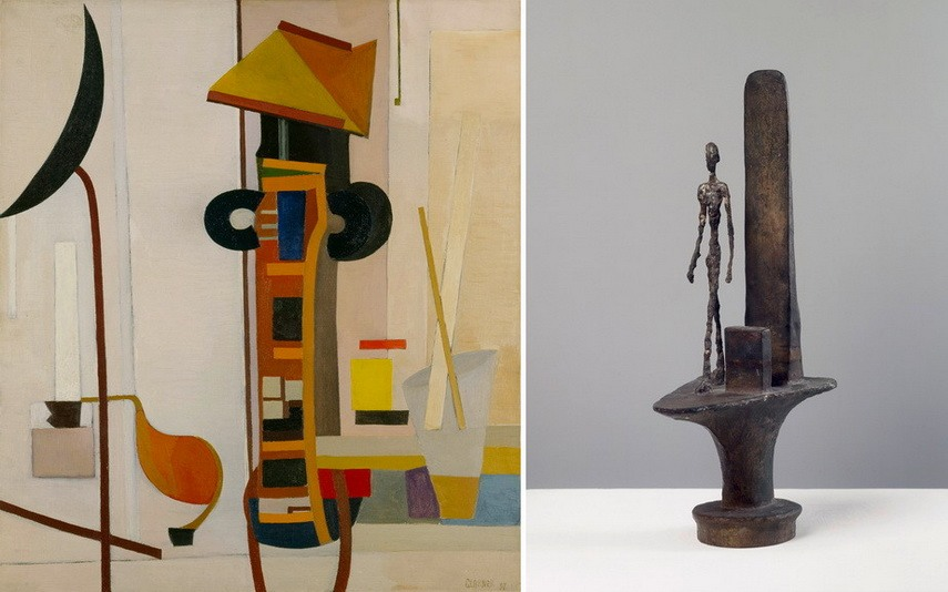 Left Fritz Glarner – Painting Right Alberto Giacometti - Paul Nelson