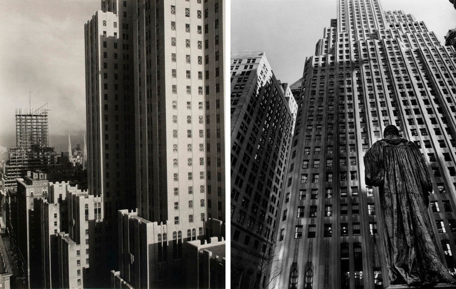 Left Alfred Stieglitz - From my window Right Berenice Abbott - John Watts Statue