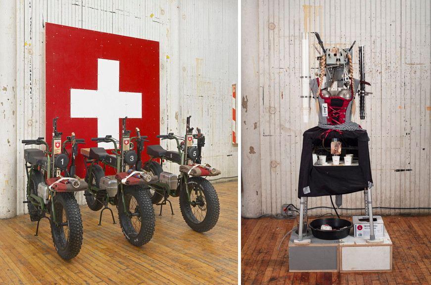 Left Front Tom Sachs - The Pack Back Tom Sachs - Flag Right Tom Sachs - Heidi