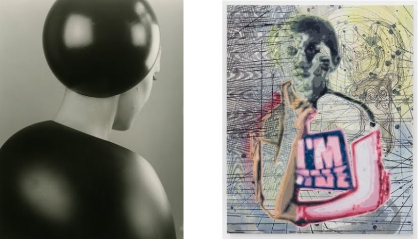 Left: Galerie Hubert Winter, Tina Lechner - Untitled / Right:  Gerhardsen Gerner, Markus Oehlen, Untitled, 2014