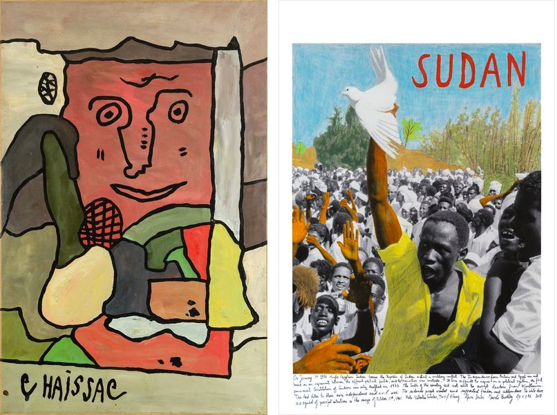 Gaston Chaissac - Composition au grand visage, 1963, Marcelo Brodsky - SUDAN 1961, 2017