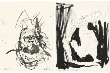 Left Georg Baselitz - Rauschenberg Right Georg Baselitz - Roy Lichtenstein