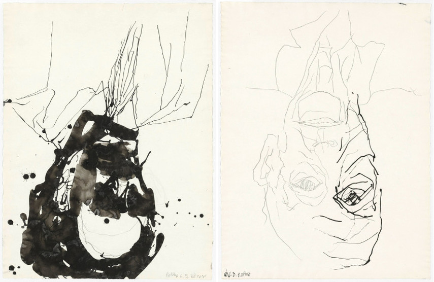 Left Georg Baselitz - Rothko Right Georg Baselitz - Io