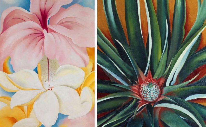 Georgia O'Keeffe - Hibiscus with Plumeria Pineapple Bud, 1939
