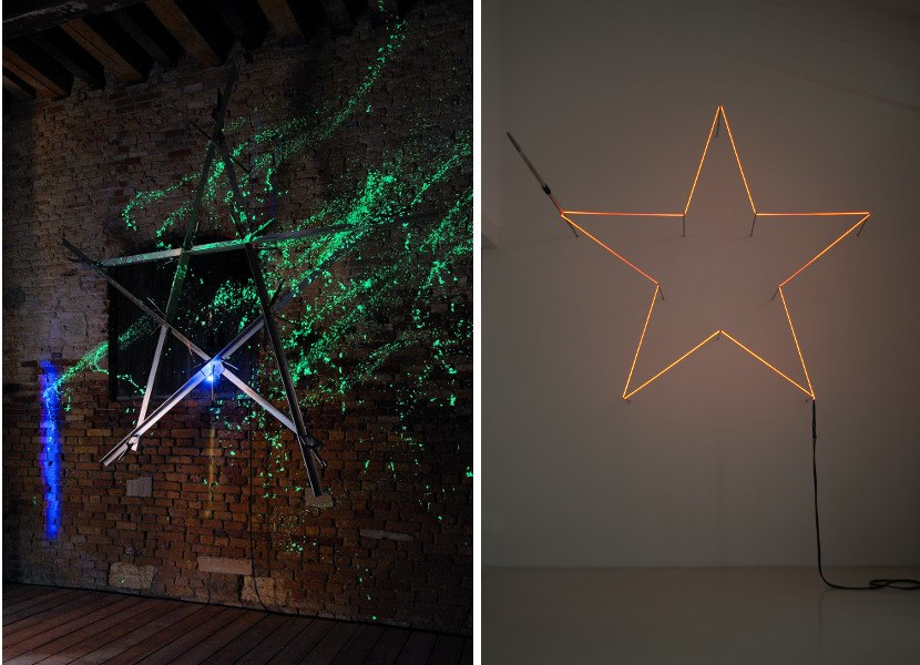 Star with voltaic arch, 2007 / Incandescent Star, 1972 (Materials from the Stella gallery)