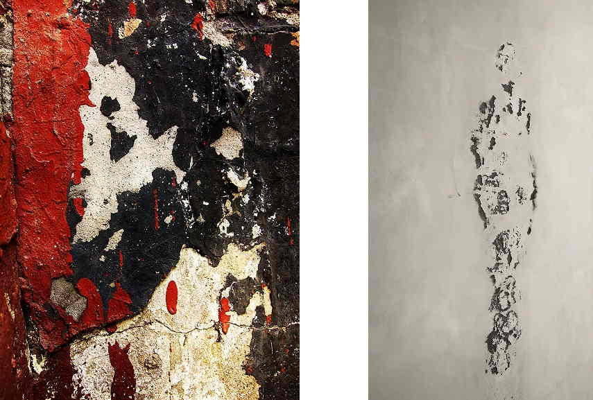 Left Graham Fink - Osama Bin Laden. Right Graham Fink - Giacometti. Images courtesy of the artist.