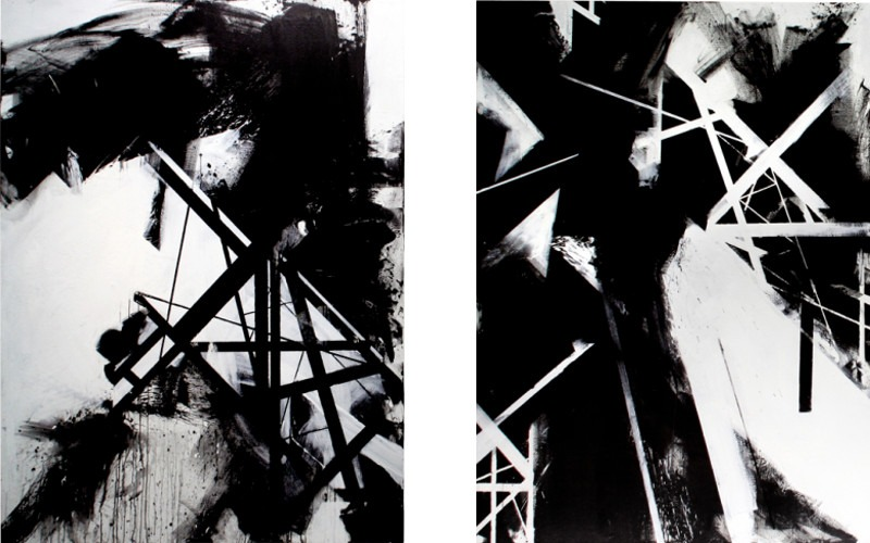 Left Graphic Surgery - The Dark Light, 2011, Right Graphic Surgery - Blinded by Darkness, 2011