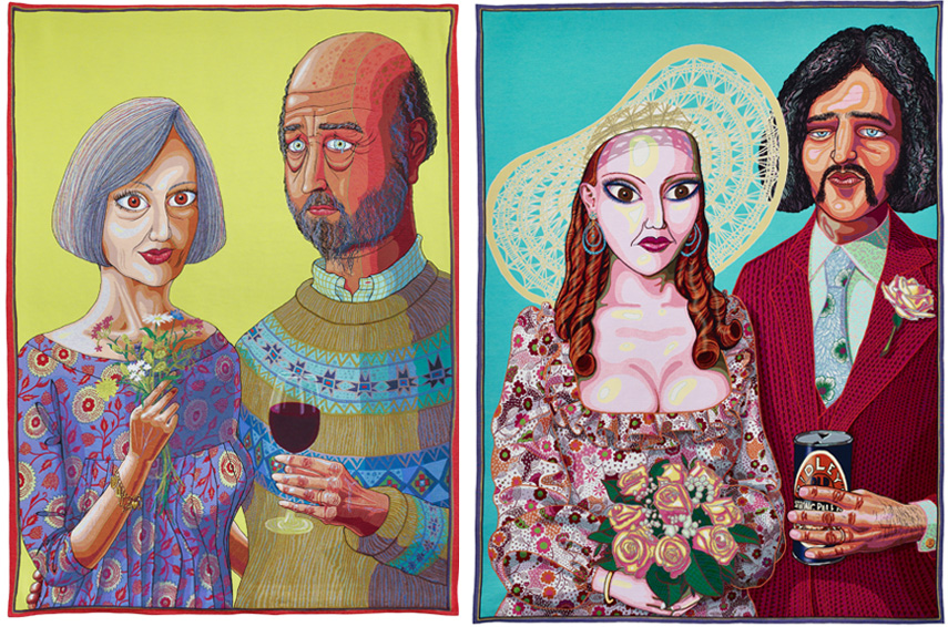 Left Grayson Perry - Julie and Rob, 2013 Right Julie and Dave, 2015