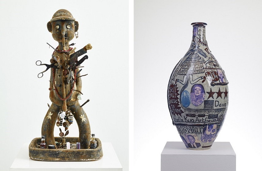 Left Grayson Perry - King of Nowhere, 2015 Right Grayson Perry - Puff Piece, 2016