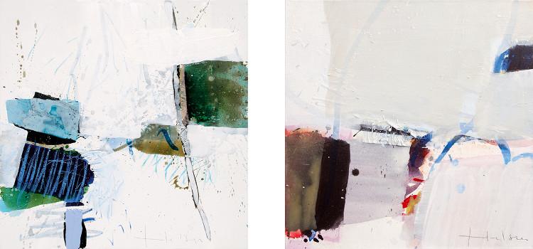 Left - Greet Helsen - An de waterplas, 2014, Right - Greet Helsen - Unbeschwert, 2013, photo credits - artist