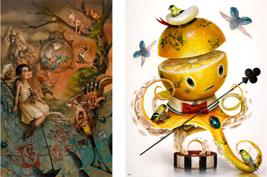 Left- Greg 'Craola' Simkins - The Glass Pinata; Right- Greg 'Craola' Simkins - YELLOW