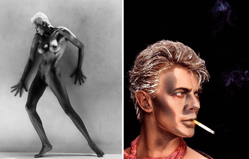 Left Greg Gorman - Brigitte Nielsen Right Greg Gorman - David Bowie Blue Jean