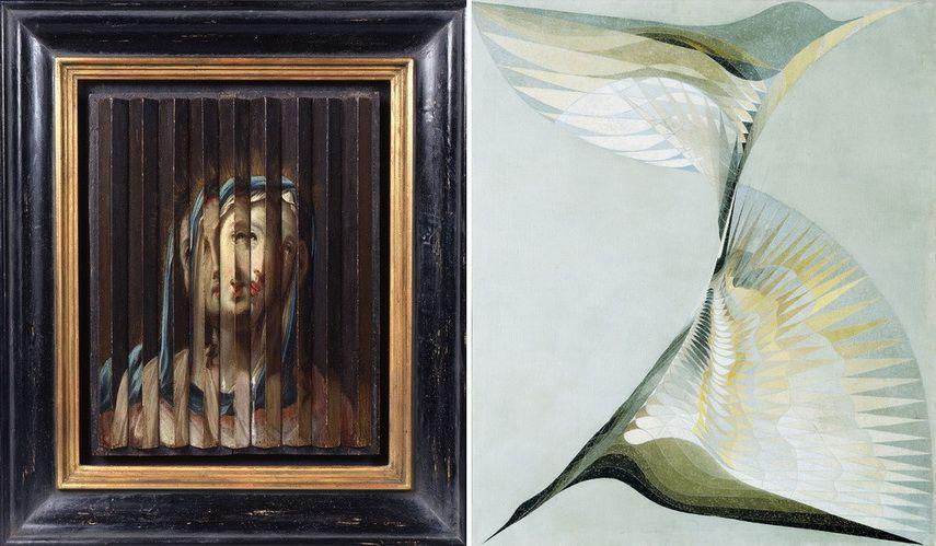 Left Guido Reni Umkreis - Jesus und Maria Right Erika Giovanna Klien - Diving Bird