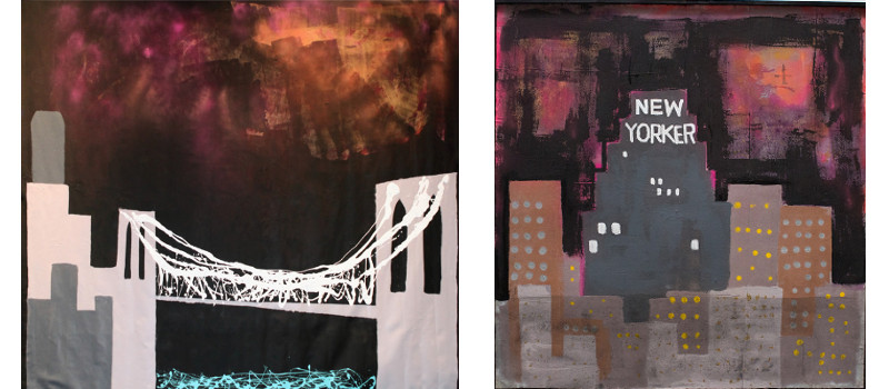 Left Harif Guzman - Now that I'm Sober - Crossing the Bridge After a Hurricane, 2013, Right Harif Guzman - Sandy Witch, 2013