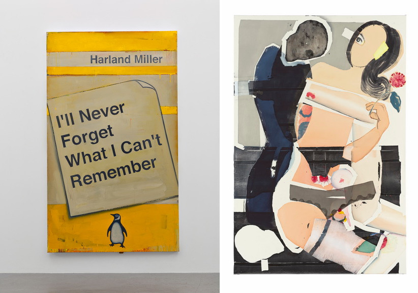 Left Harland Miller - Ill Never Forget What I Cant Remember Right Magnus Plessen - Untitled