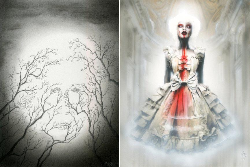 Left : Harry Michalakeas - Gaia / Right : Menton3 - Collapse